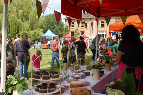 Cake stall at the Towersey Fete