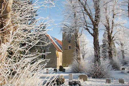 St Catherine's Church in the snow