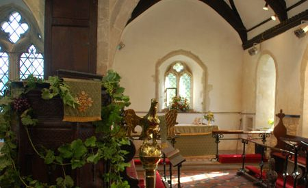 St Catherine's Church decorated for Harvest Festival