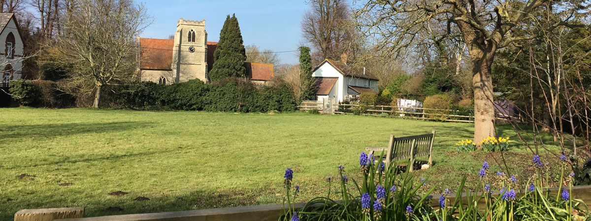 Towersey Village Green and Church