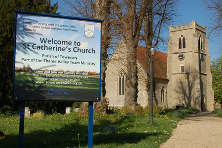 A warm welcome awaits visitors to St Catherine's Church Towersey