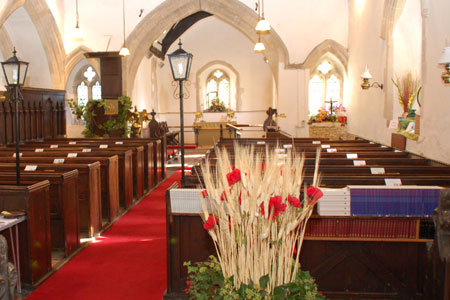 Inside St Catherine's Church Towersey